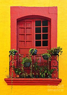 Window On Mexican House Photograph by Elena Elisseeva