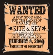 Kappa Alpha Theta & Kappa Kappa Gamma Crush Party -WANTED-  such a cute idea