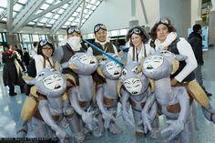Hoth Rebel Troopers, Luke Skywalker, and Tauntauns   Comikaze Expo 2014 - Saturday #DTJAAAAM