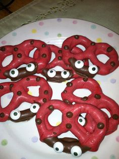 Chocolate Dipped Lady Bug Pretzels