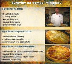 Recept na domácí minipizzu