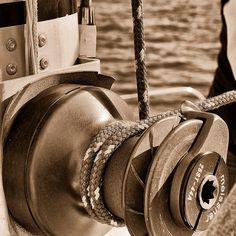 Art Nautical Photography Winch Boating Rope Ocean by AsqewCreative