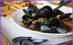 The Hundred-Foot Journey Inspired Recipes from Celebrity Chefs Ryan Scott and Aarti Sequeira via Cost Plus World Market - Masala Moules Frites Recipe >> Indian Cuisines, India