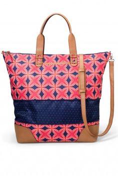 Navy & Red Medallion Weekender Bag | Getaway Bag | Stella & Dot