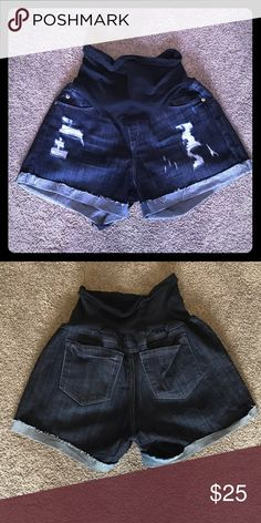A Pea in the Pod Maternity Shorts Excellent condition A Pea in the Pod Shorts Jean Shorts
