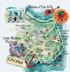 art maps Havana St Barts Bermuda Dominican Rep. by ELENI TSAKMAKI, via Behance