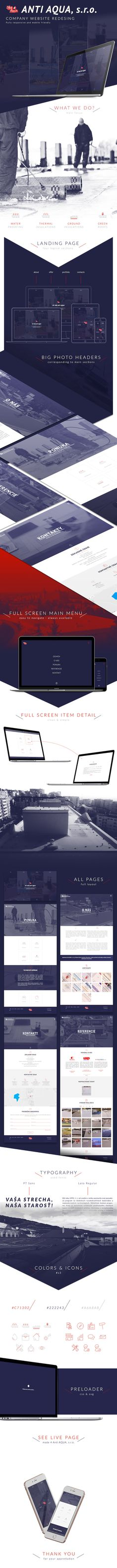 Anti AQUA Web Design Concept