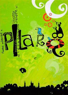 Cartel Fiestas del Pilar 2008 - Grande Zaragoza Arabic Calligraphy, Graphic Design, Grande, Quilts, Signs, Posters, Graphics, Ideas, Zaragoza