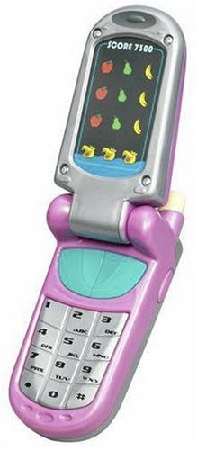 """Hasbro Playskool Flip 'N Play Cell Phone - Pink by Hasbro. $22.95. From the Manufacturer                Dial up some fun with this two-in-one electronic phone toy that lets kids have interactive, pretend phone conversations, and exciting game play! This amazing """"phone"""" features a friendly electronic voice, a HUNGRY, HUNGRY HIPPOS game, exciting music and ring tones and easy-to-use buttons. It even folds up, just like a real cell phone!"""