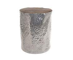 Kruk Rita, zilver/naturel, H 45 cm