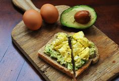 EGG AND AVOCADO TOAST- CLEAN EATING I'll eat anything with avocado in it lol