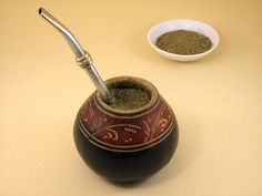 Uruguay Yerba Mate Tea - Gourd and bombilla are essential for drinking Yerba Mate traditionally. More at Organicmate.Net