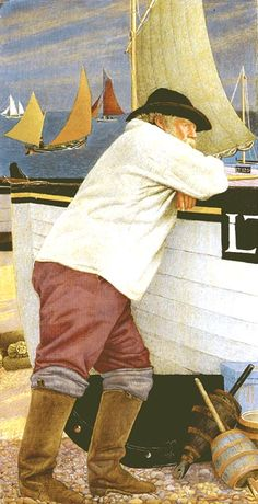 Joseph Edward Southall [1861-1944, British], associated with the Arts and Crafts movement, the leader of the Birmingham Group of Artist-Craftsmen, an important link between the later Pre-Raphaelites and the turn of the century Slade Symbolists.