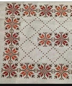 Kεντηματα Cross Stitch Rose, Cross Stitch Borders, Cross Stitch Flowers, Cross Stitch Designs, Cross Stitching, Cross Stitch Embroidery, Embroidery Patterns, Hand Embroidery, Cross Stitch Patterns