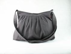 bc4ebafa97 Items similar to Dark Gray Canvas Bag Choose Your Color Purse Pleated Bag  Washable   Durable For Women Gift Daily Use Crossbody Tote Handbag Bags Gift  idea ...