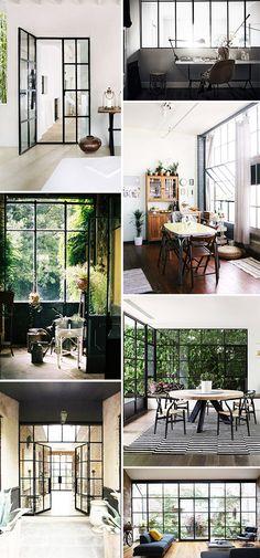 black framed window casings inspiration / sfgirlbybay