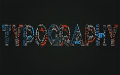 TYPOGRAPHY is a design create from diferents type fonts in such way combine made words