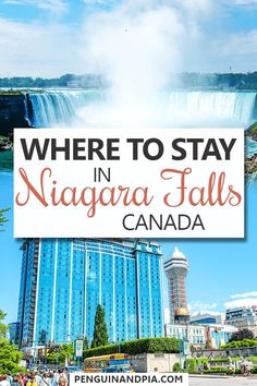 Wondering where to stay in Niagara Falls? We guide explores Niagara Falls accommodations from hotels and B&Bs to the top places to stay with Falls views! Niagara Falls Hotels, Visiting Niagara Falls, Banff, Amazing Destinations, Travel Destinations, Travel Tips, American Falls, Dubai Skyscraper, Visit Canada