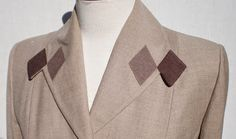 Pintucks: Lilli Ann: Diamond Applique Jacket, c. 1955