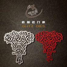 Flores de metal troquelado scrapbooking carpeta de grabación en relieve juego para fustella big shot sizzix muere máquina de corte(China (Mainland))