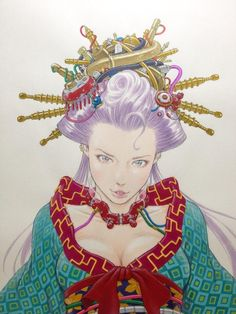 "Une ""Oiran steam punk"" par le mangaka @EISAKUSAKU"