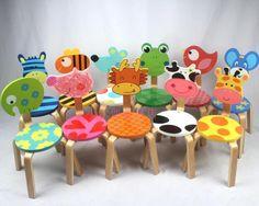 Cadeira de Madeira maciça novo Ambiente ultra - cute cartoon crianças encosto de cadeira de Jardim cadeira de fezes de animais