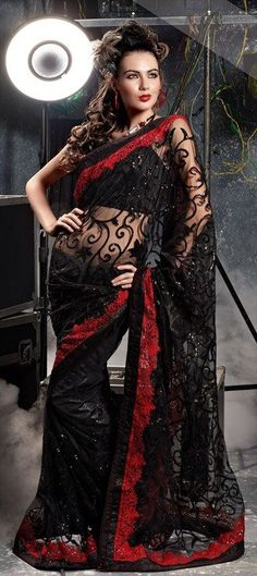 Indian saree with a Gothic twist. What do you think