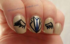 Nail art castiel supernatural
