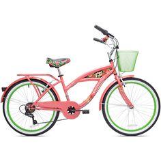 "24"" Girls Margaritaville Island Life Multi Speed Bicycle, Coral/Green - Walmart.com"
