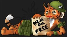 Palm oil free concept illustration by diabolic sun