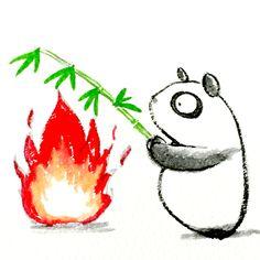 【一日一大熊猫】 2015.3.22 ツイッターは「さえずり」の意味だね。 べは対抗サービスを作るとしたら? ウィスパー「ささやき」。 #Twitter