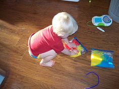 100 (Attempted) Ways to Entertain a Young Toddler, Day 62: Color in a Bag