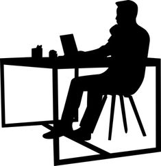 Free Image on Pixabay - Desk, Analyze, Browsing Person Silhouette, Silhouette Images, Black And White Logos, Black N White Images, My Images, Free Images, Mindfulness At Work, Male Body Art, Men Coffee