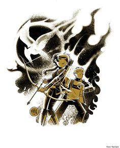 Hunger Games art by Mike Maihack