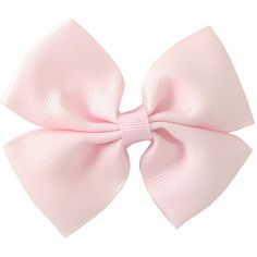 Primrose Large Plain Bow Clip In Light Pink || Igloo Kids Clothing ❤ liked on Polyvore featuring accessories, bows, hair accessories and hair
