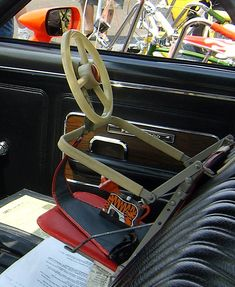 Child car seat of the sixties.  Oh yeah.  These were safe.