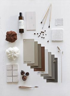 RHYTHM OF LIFE Earlier this week I was invited to the launch of Jotun´s LADY Color Chart 2018 - Rhythm of Life. Flat Lay Inspiration, Color Inspiration, Bedroom Inspiration, Interior Natural, Foto Magazine, Mood Board Interior, Material Board, Mood And Tone, Concept Board