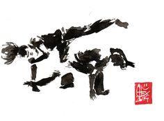 Encres : Capoeira – 627 [ #capoeira #watercolor #illustration]