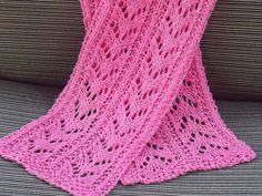 Ravelry: Pink Lace Scarf pattern by Lauras Knits