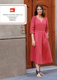 Purchase Liesl + Co. LC010 Cinema Dress Downloadable Pattern and read its pattern reviews. Find other Dresses, sewing patterns...