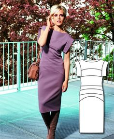 Featured Sewing Patterns ~ pattern 'Panneled Sheath Dress from BURDA ~ $5.99 download