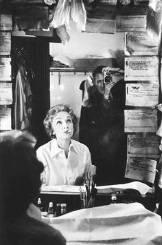 Marlene Dietrich in her Las Vegas dressing room being photographed by William Claxton, 1955