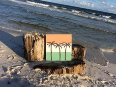 Palm Tree Pallet on Etsy, $35.00 perfect for beach house lover. Or those who wish they lived at the beach! Beach house decor.