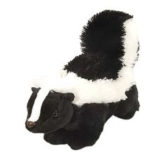 Plush Skunk 12 Inch Stuffed Animal Cuddlekin By Wild Republic at Stuffed Safari