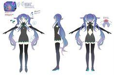 3d Model Character, Character Concept, Character Art, Character Design, Hatsune Miku Outfits, Anime Manga, Anime Art, Hatsune Miku Project Diva, Hiro Big Hero 6