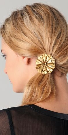 Deepa Gurnani    Antique Gold Flower Hair Tie  Style #:DEEPA40057