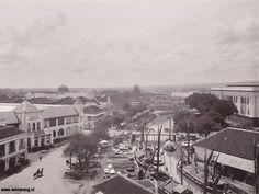 Semarang in the old days - The front of Stasiun Tawang