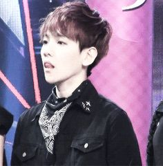 """When some bitch says something they know absolutely know nothing about and you just try to hold in your anger like: """"I'm gonna kill a bitch"""" #BaekHyun #gif"""