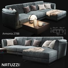 Sofa Natuzzi Armonia 2788 Professional, highly detailed model for architectural visualizations. Formats in the archive: .