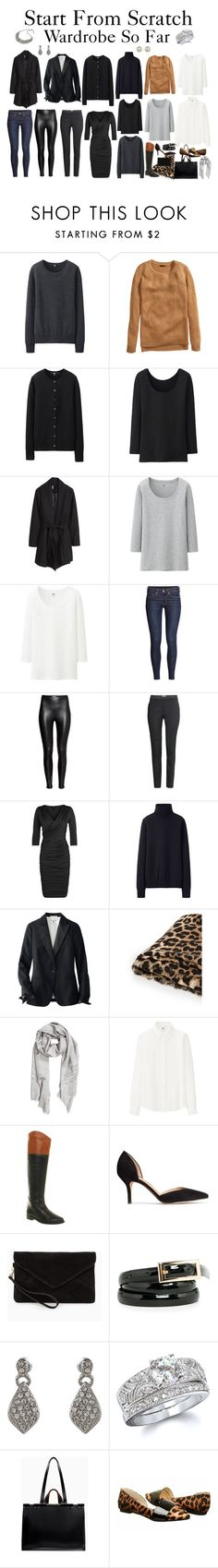 """""""Start From Scratch Wardrobe Steps 1 - 10"""" by charlotte-mcfarlane ❤ liked on Polyvore featuring Uniqlo, H&M, MANGO, Office, Accessorize, Fantasy Jewelry Box, Zara and Chinese Laundry"""
